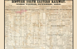 scottish north eastern railway time table 1860