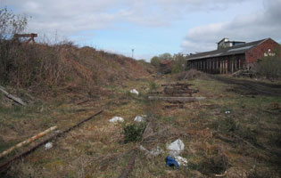 Shed and coaling incline to left