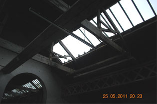 roof damage inside